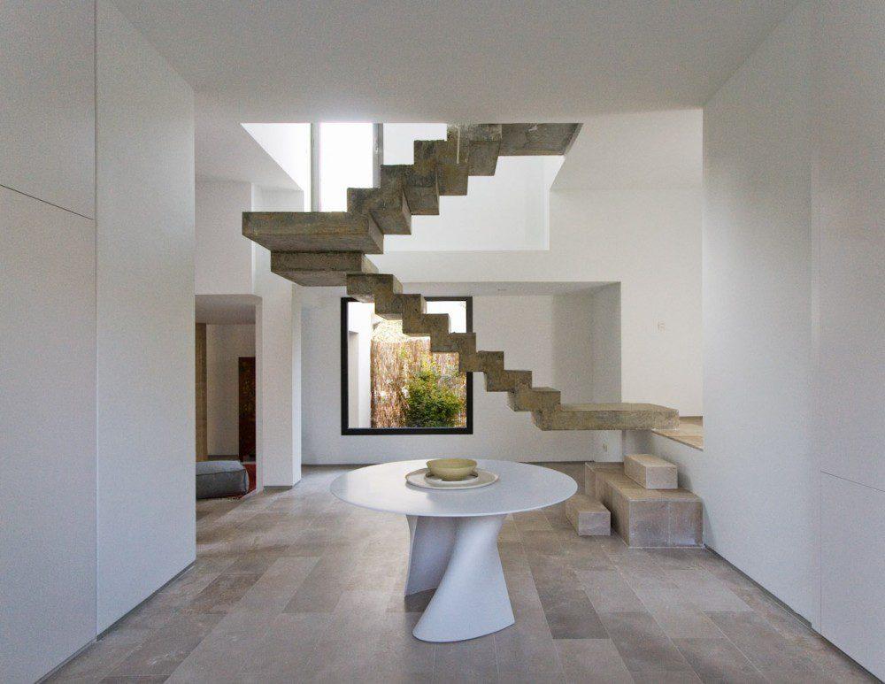 escaleras en el centro